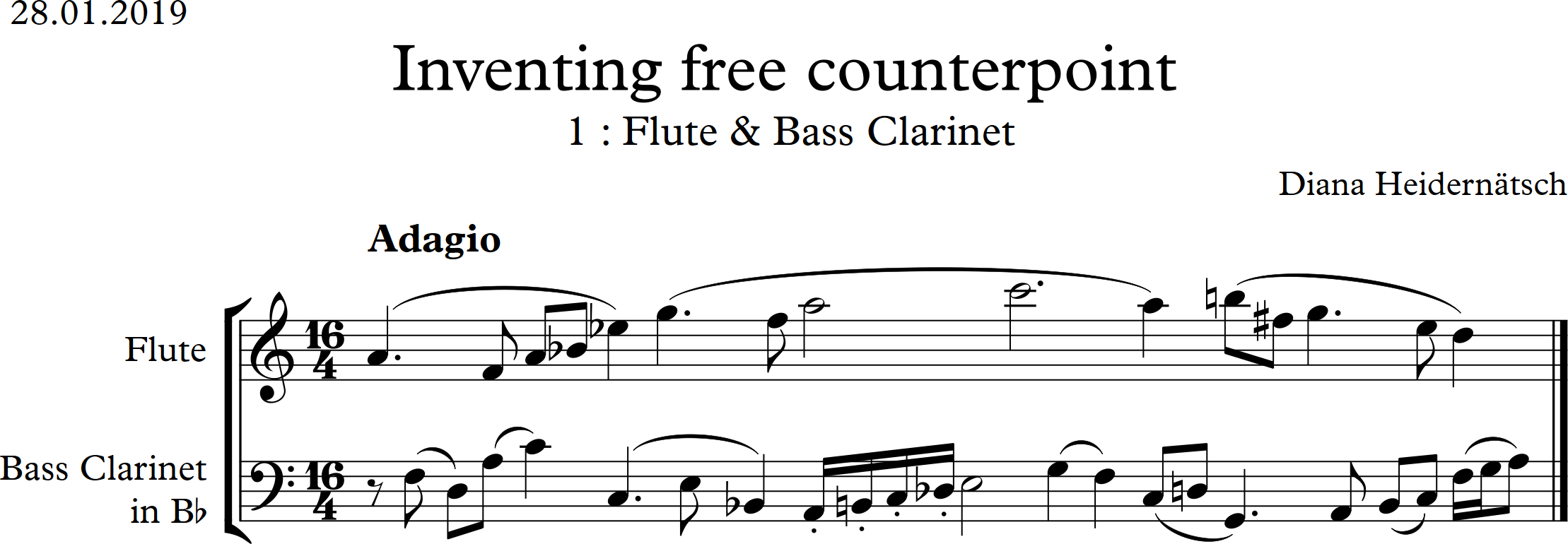 Project 11 : Inventing free counterpoint – Dianas Learning Log